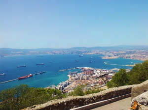 Gibraltar and Algeciras from the Mountain